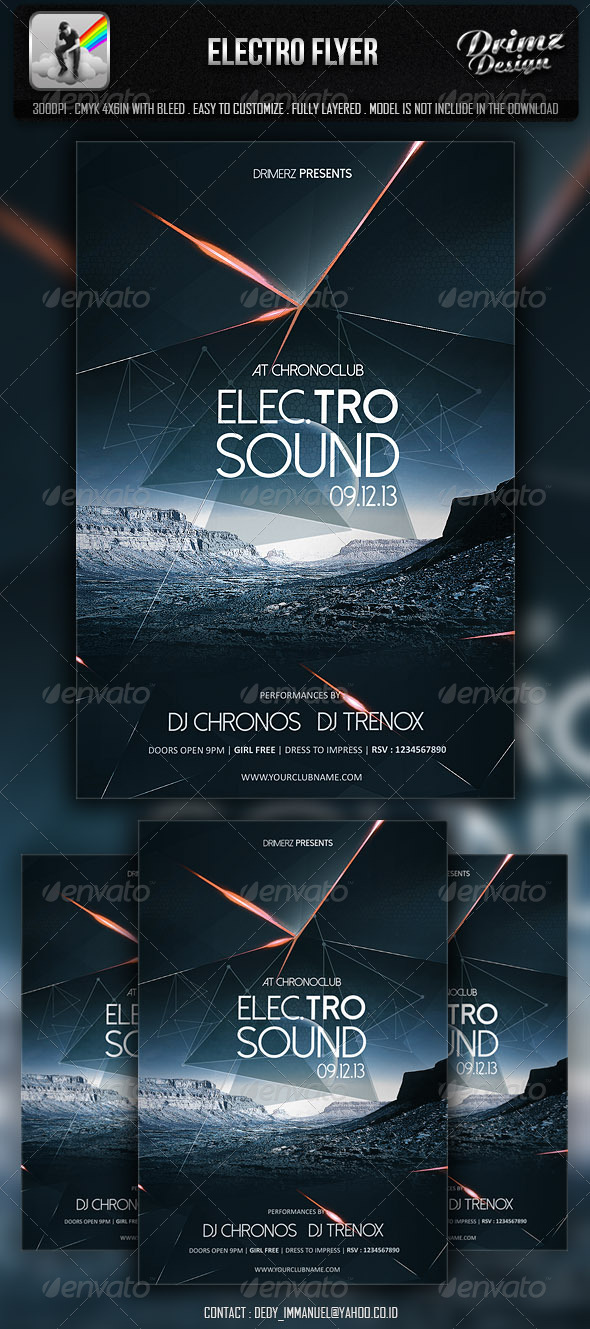 GraphicRiver Electro Flyer 7020196