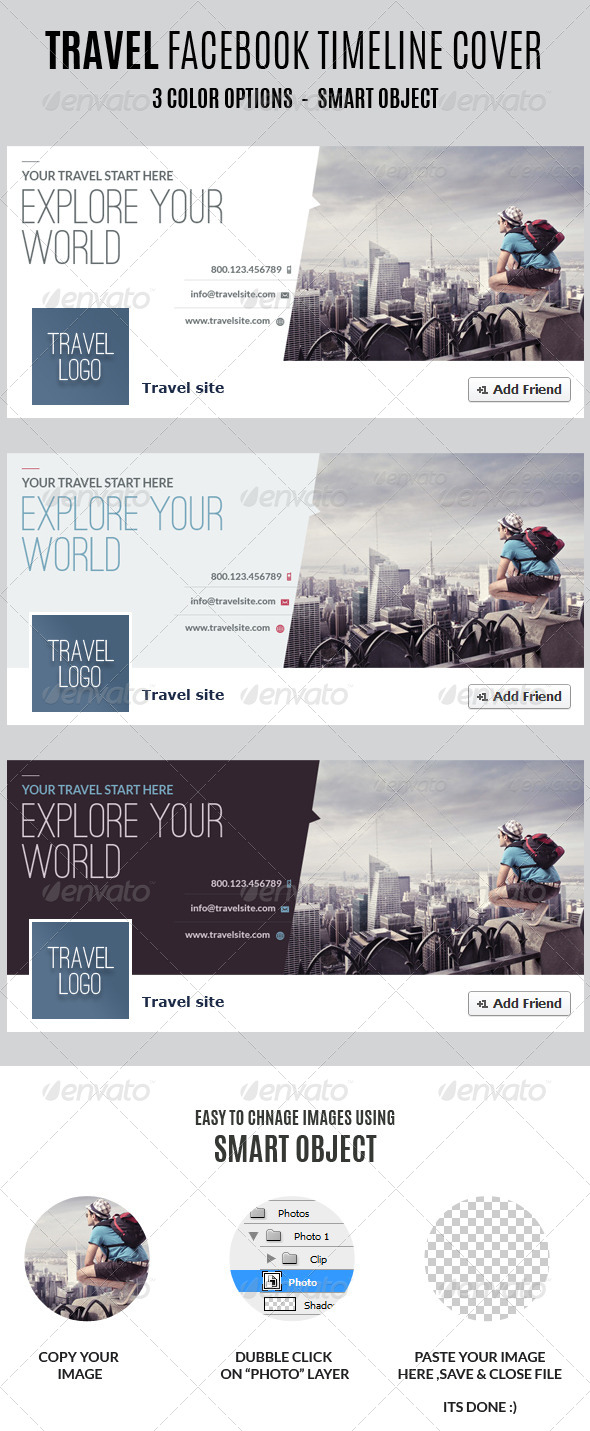 GraphicRiver Travel Facebook Timeline Covers 7020281