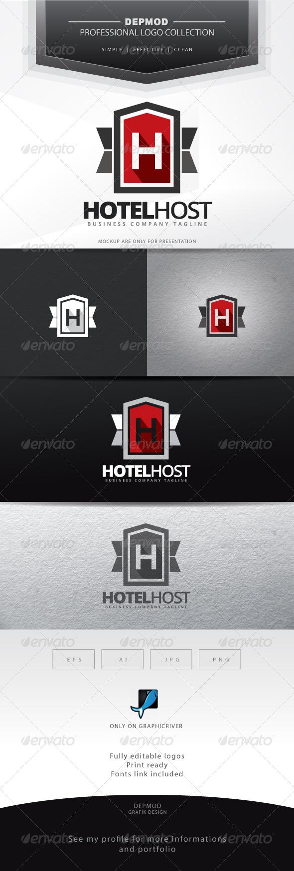 GraphicRiver Hotel Host Logo 7020326
