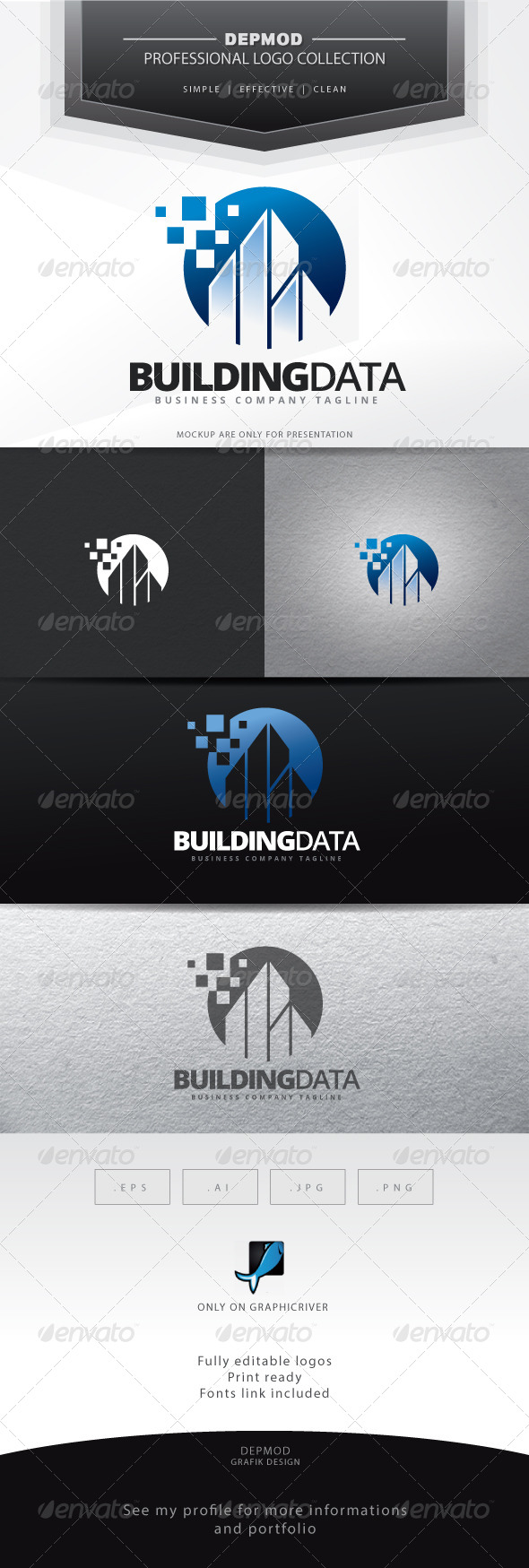 GraphicRiver Building Data Logo 7020396