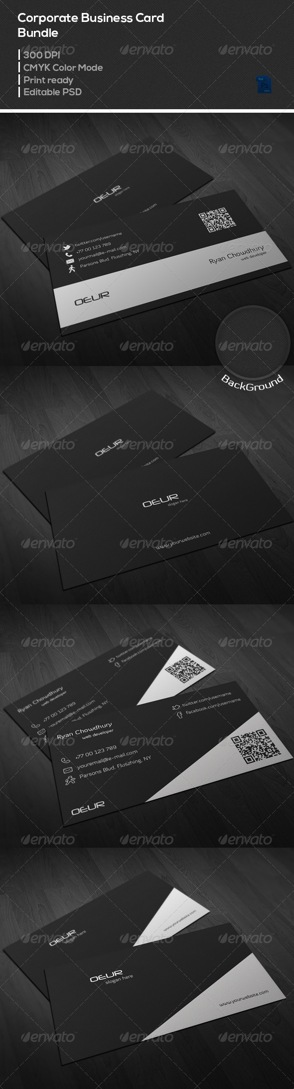 GraphicRiver Corporate Business Card Bundle 7020422