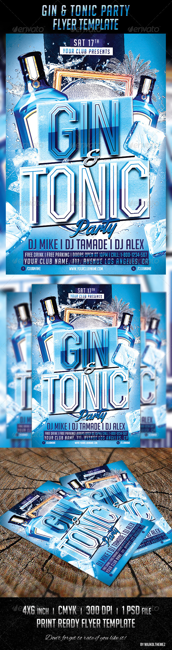 GraphicRiver Gin Tonic Night Party Flyer 7020616