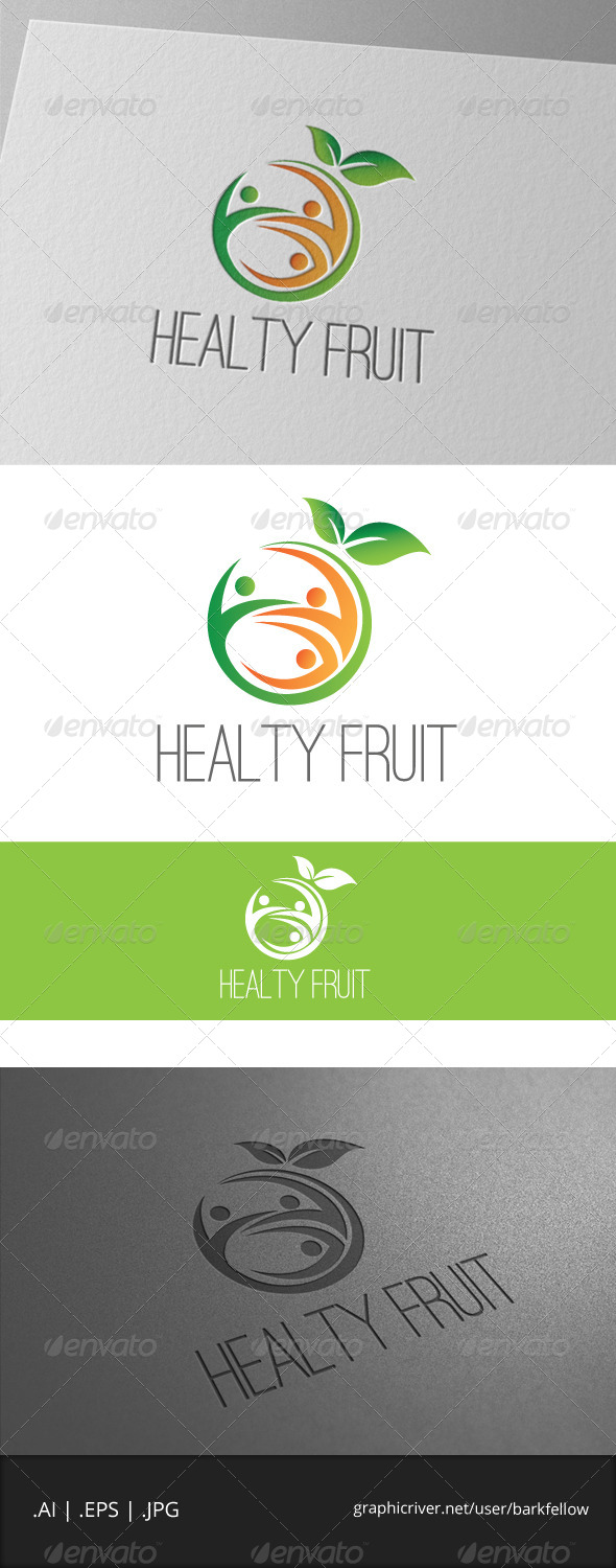 GraphicRiver Healty Fruite Logo 7020730