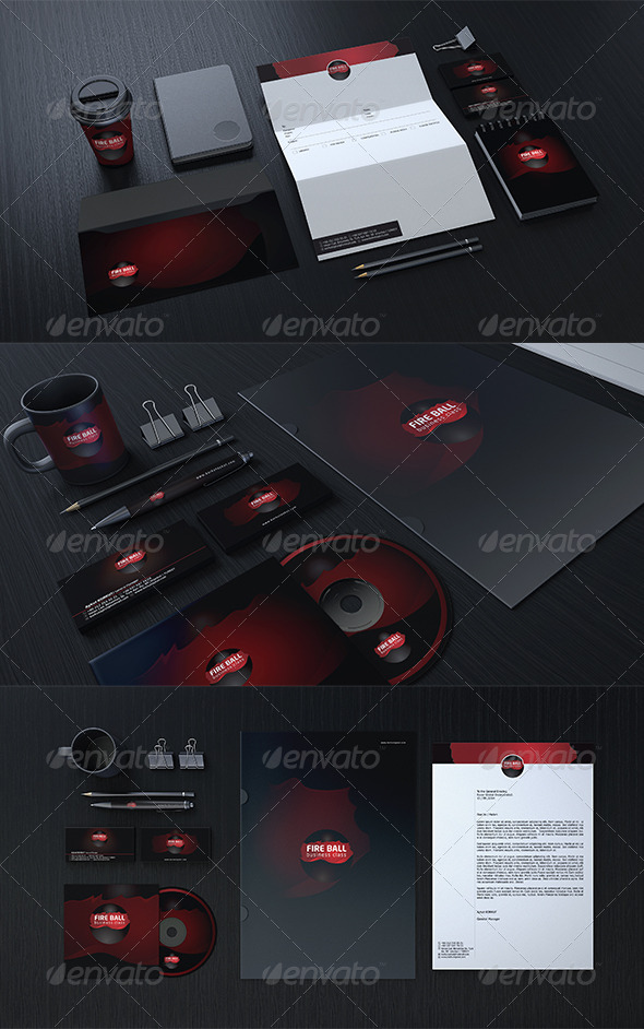 GraphicRiver Fire Ball Corporate Identity Package 7020818