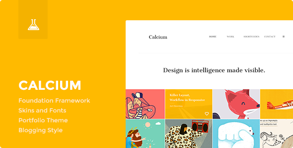 ThemeForest Calcium Minimalist Portfolio & Blogging Theme 7021011