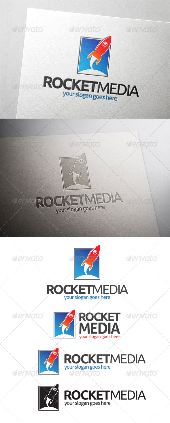 GraphicRiver Rocket Media Logo 7021013