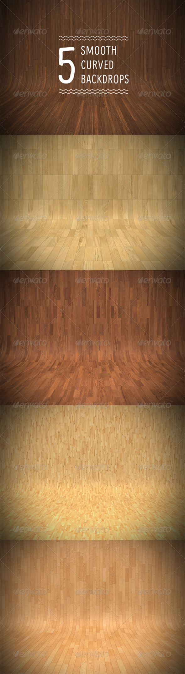 Smooth Curved Wooden Backdrops