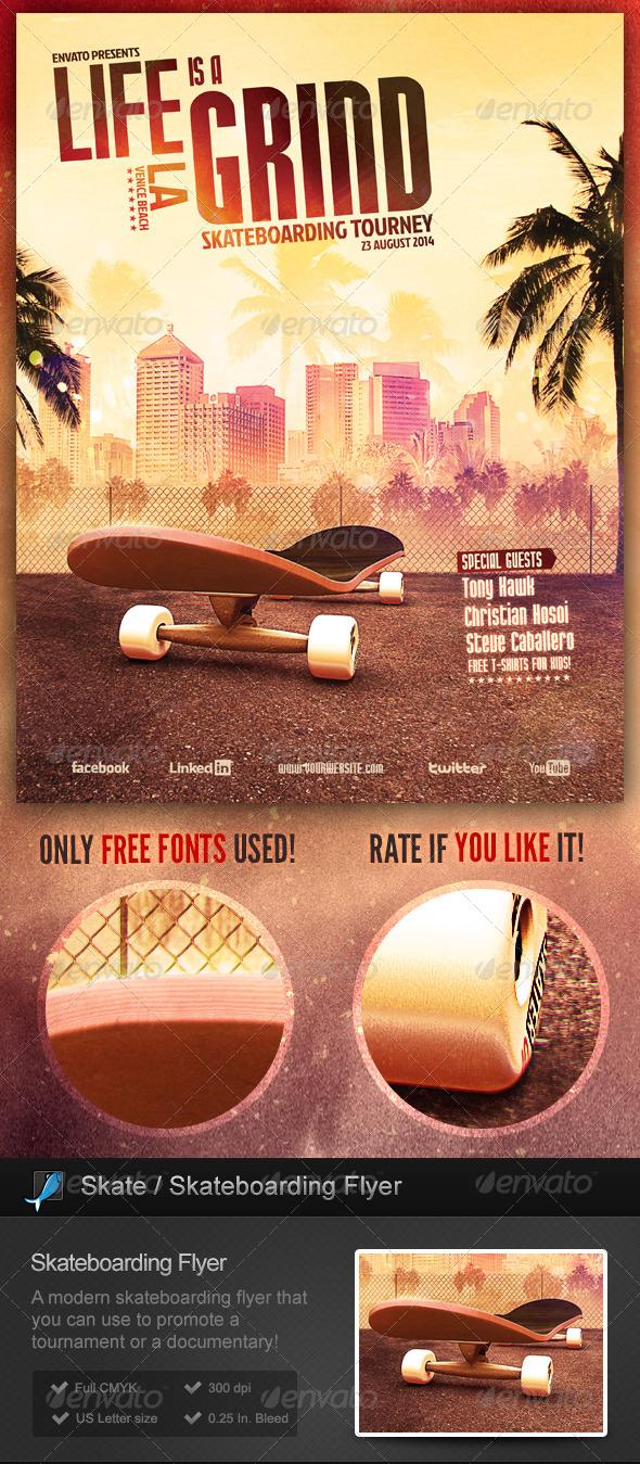 GraphicRiver Skate Skateboarding Flyer 7021229