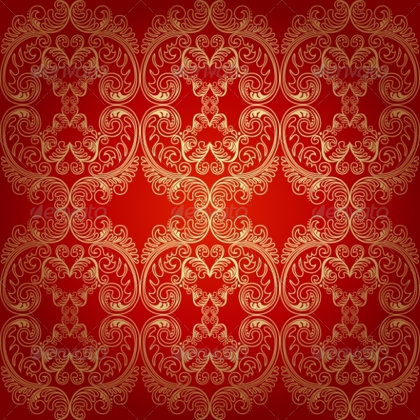 GraphicRiver Seamless Pattern Background Damask Wallpaper 7021553