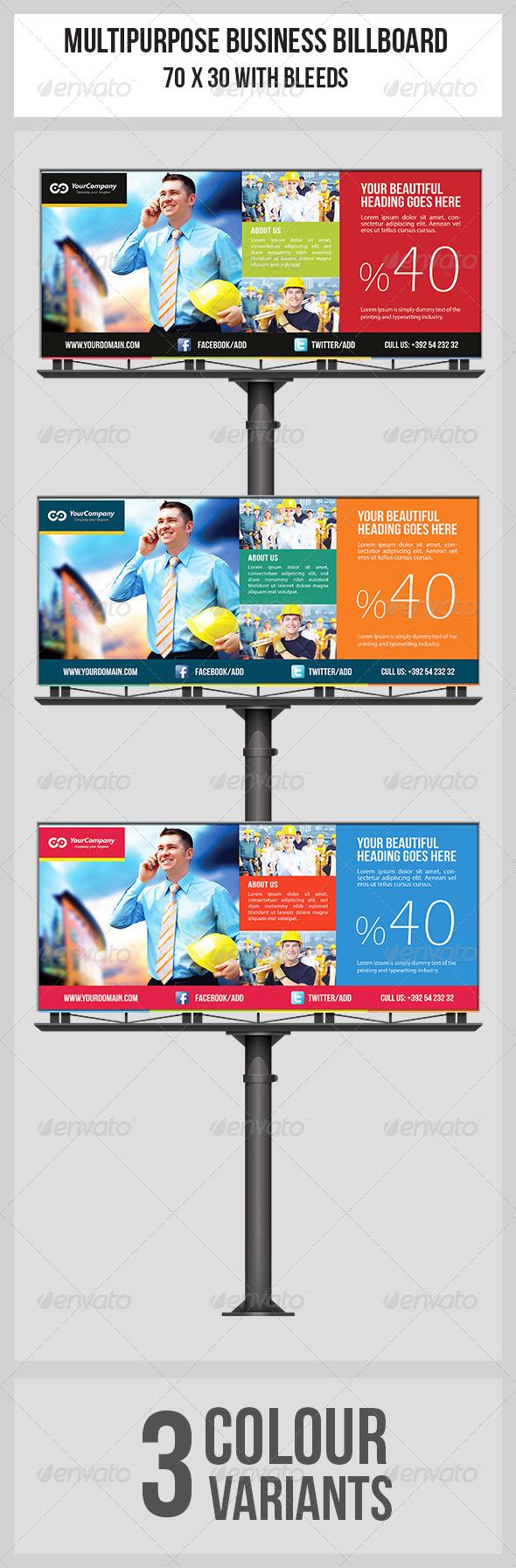 GraphicRiver Multipurpose Business Billboard Template 7021576