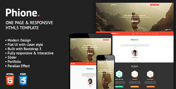 ThemeForest Phione Onepage Parallax Responsive HTML Template 6997227
