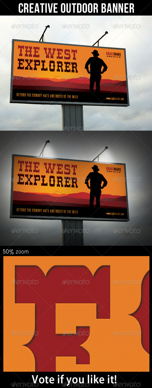 Explore The West Outdoor Banner