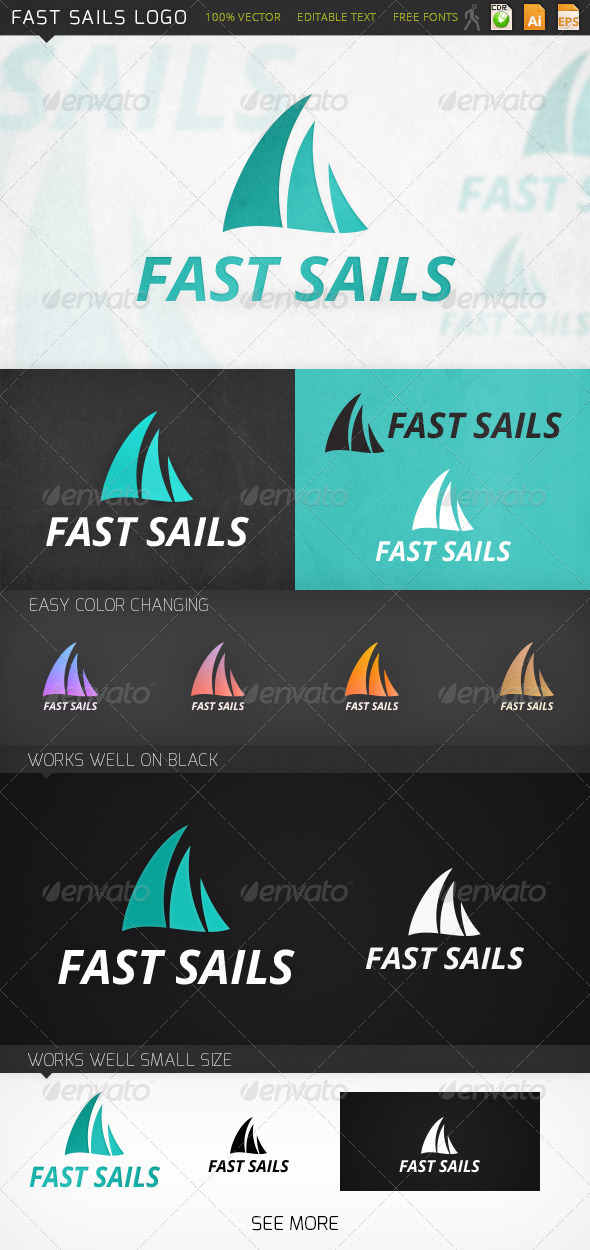 GraphicRiver Fast Sails Logo 7021779