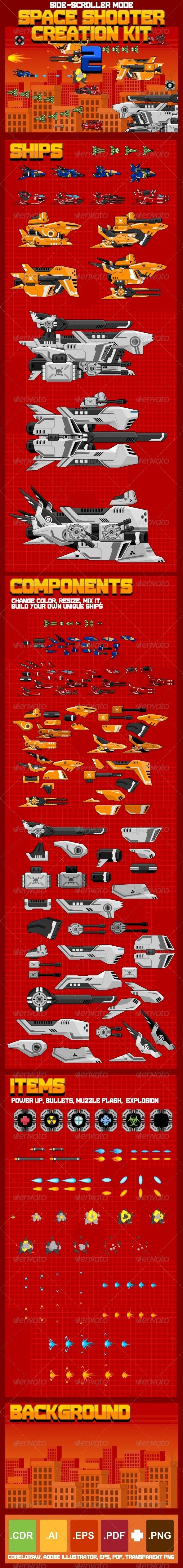GraphicRiver Space Shooter Creation Kit 2 7021806