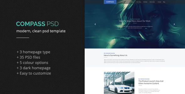 ThemeForest Compass PSD Template 7022103