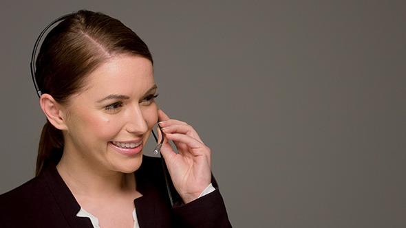 Beautiful Female Call Center Operator by Daniel_Dash | VideoHive
