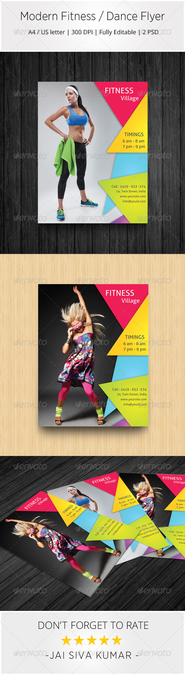 GraphicRiver Modern Fitness Dance Flyer 7022559