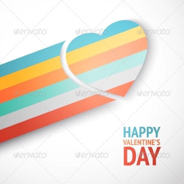 GraphicRiver Rainbow Heart 7022592