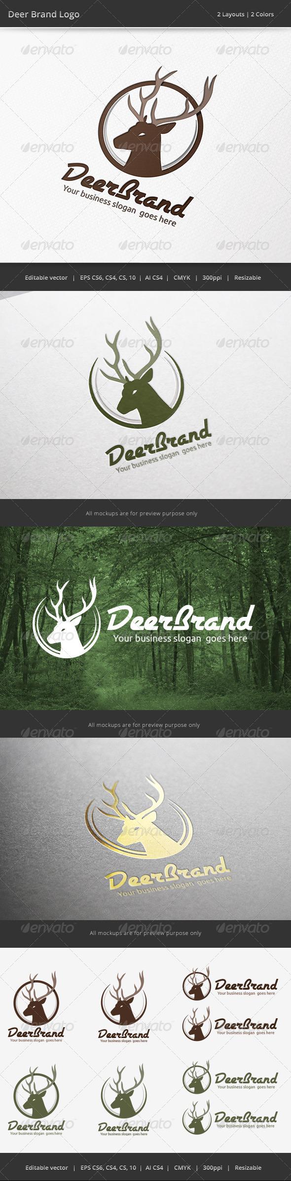 GraphicRiver Deer Brand Logo 7022636