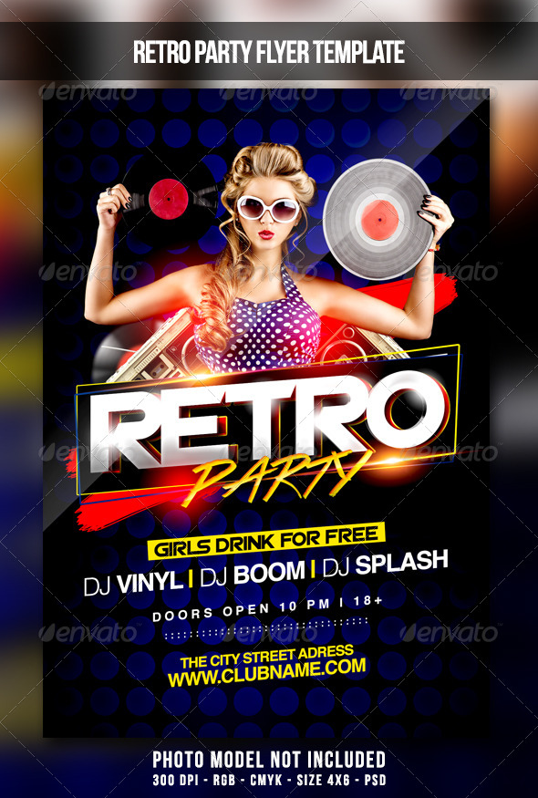 GraphicRiver Retro Party Flyer 7023357