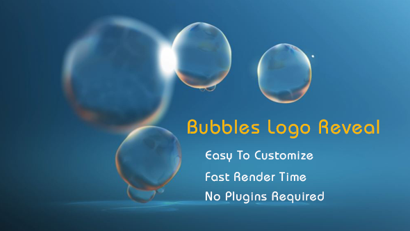 Bubbles Logo Reveal