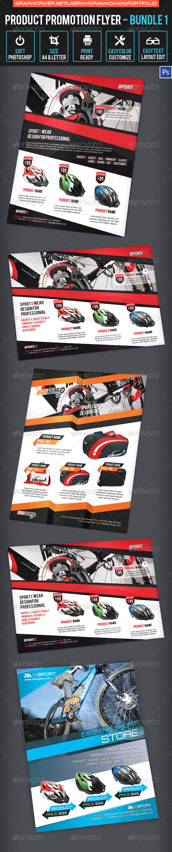GraphicRiver Product Promotion Flyer Bundle 1 7023454