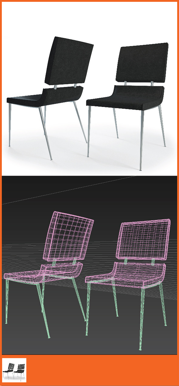 3DOcean Realistic Chair Armchair 7023481