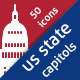 US State Capitols - GraphicRiver Item for Sale
