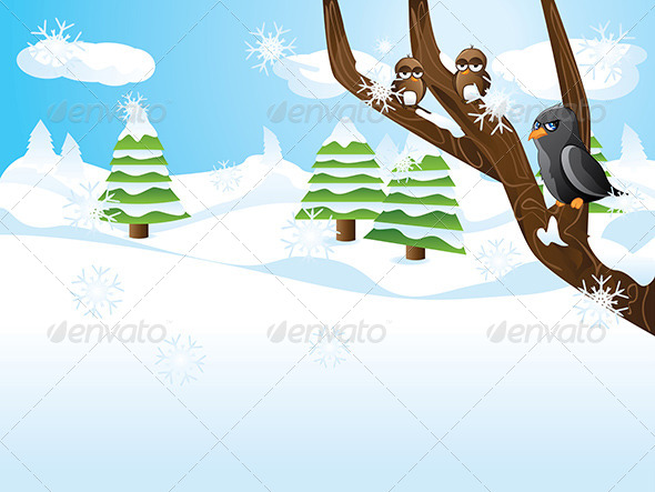 GraphicRiver Birds on Branch 7023640