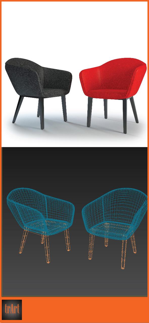 3DOcean Realistic Chair Armchair 7023653