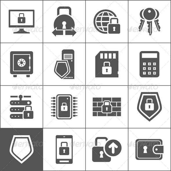 GraphicRiver Protection Icons 7023933