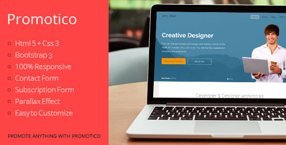 Promotico - Bootstrap 3 Site Template