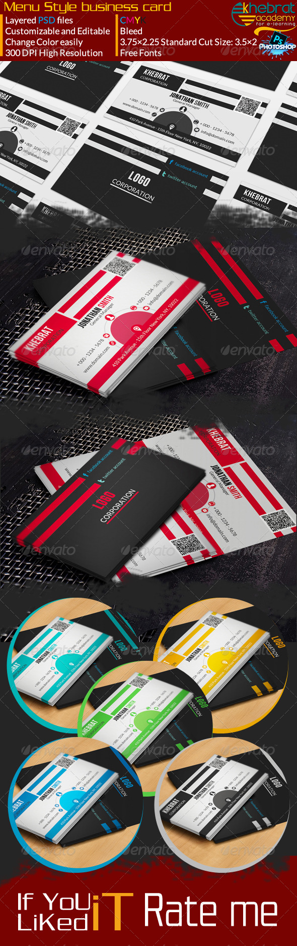 GraphicRiver Menu Style Corporate Business Card V02 7024040