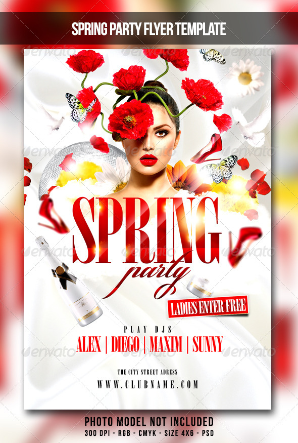 GraphicRiver Spring Party Flyer 7024148