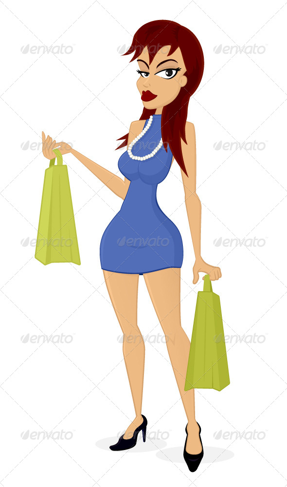 GraphicRiver Shopping Girl 7024225