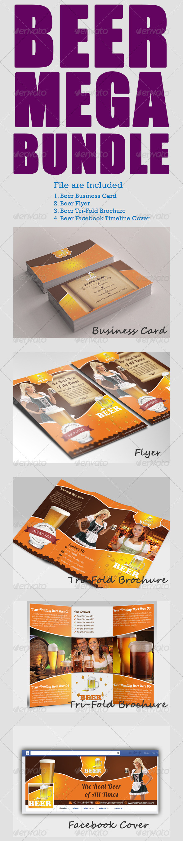 GraphicRiver Beer Mega Bundle 7024264