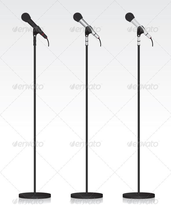 GraphicRiver Three Different Michrophone 7024267