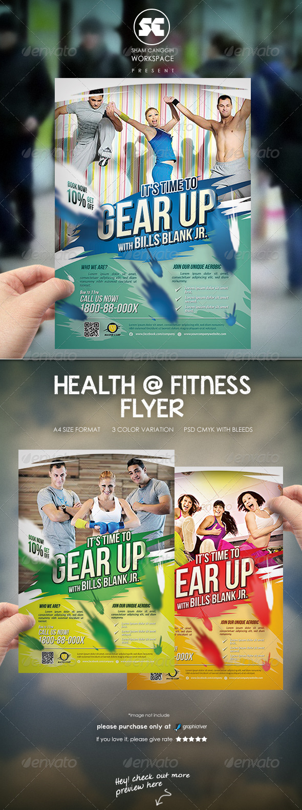 GraphicRiver Fitness Sport Flyer Magazine Ads Template 7024350