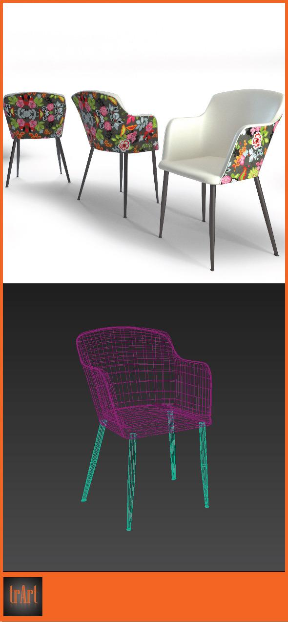 3DOcean Realistic Chair Armchair 7024353