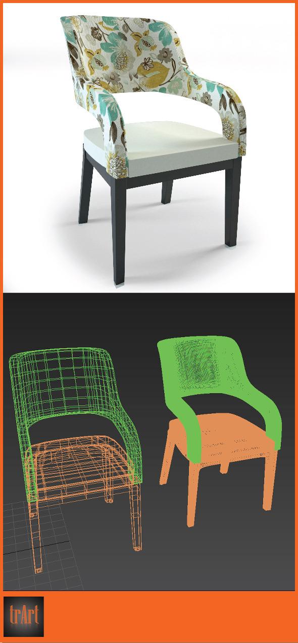 3DOcean Realistic Chair Armchair 7024433