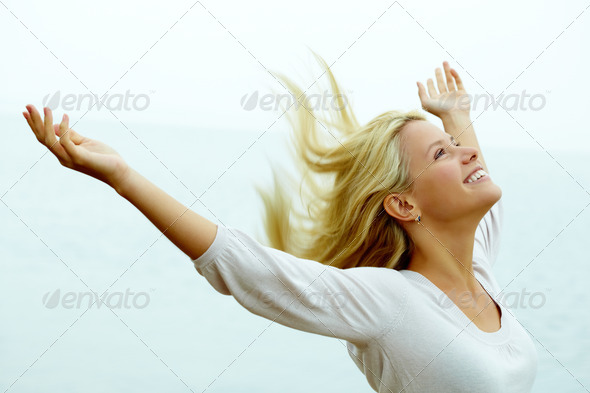 Joy and freedom - Stock Photo - Images