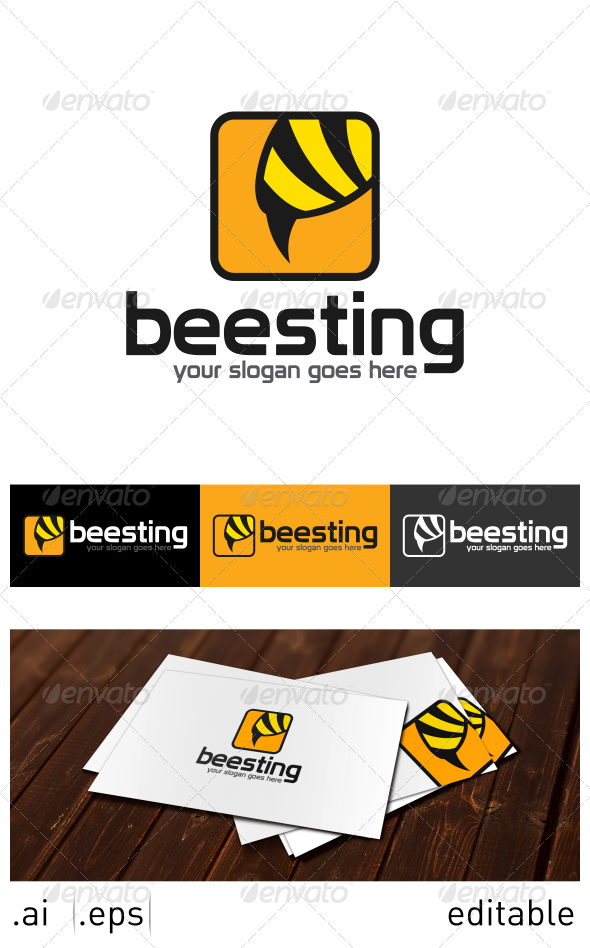 GraphicRiver Bee Sting Logo Template 7024923