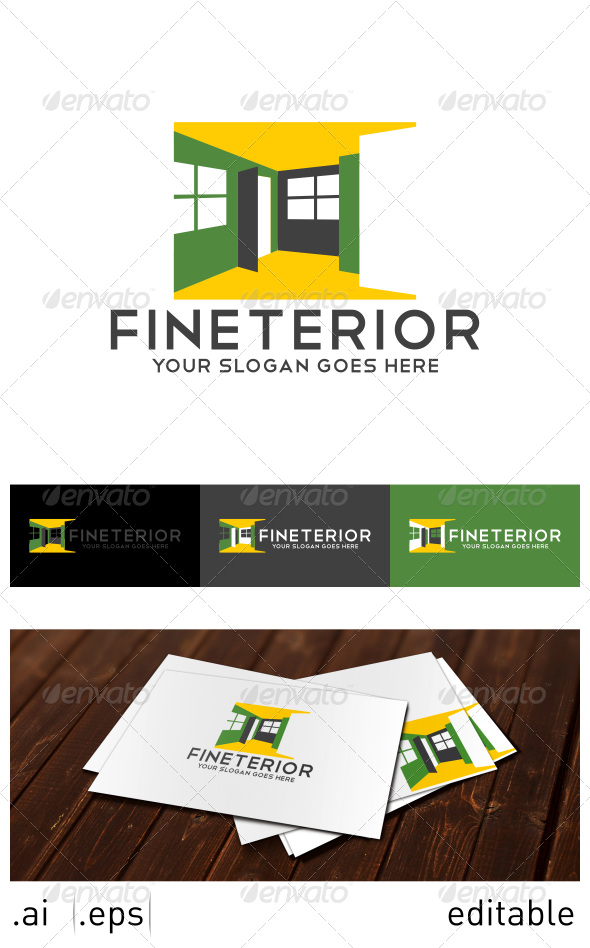 GraphicRiver Fineterior Logo Template 7025034