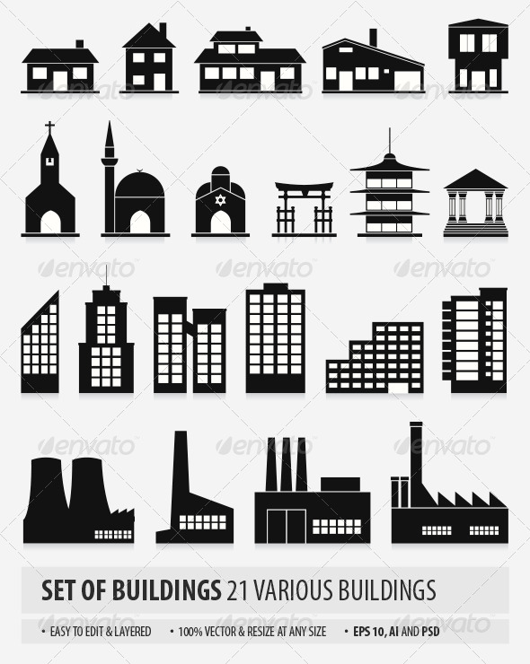 GraphicRiver Buildings 7025086