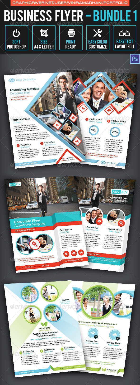 GraphicRiver Business Flyer Bundle 1 7025238