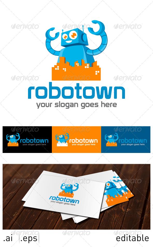 GraphicRiver Robotown Logo Template 7025282