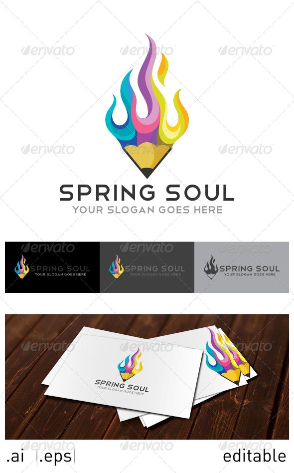 GraphicRiver Spring Soul Logo Template 7025317