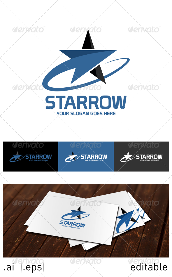 GraphicRiver Starrow Logo Template 7025327