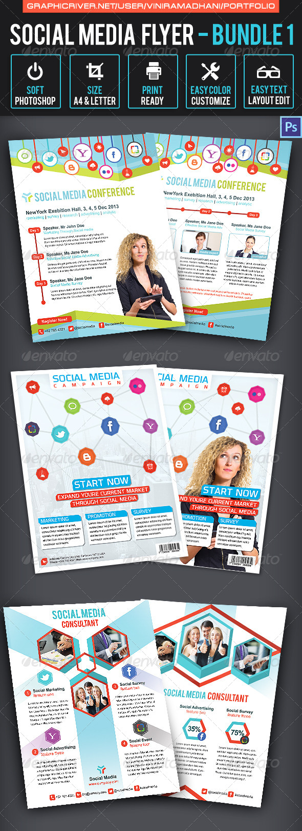 GraphicRiver Social Media Flyer Bundle 1 7025550