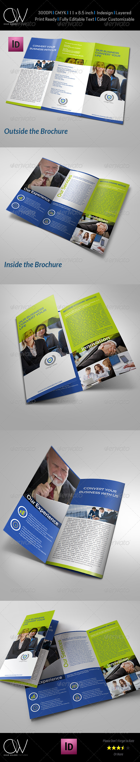 Corporate Business Tri-Fold Brochure Vol.5